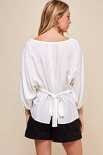 Load image into Gallery viewer, White Tie Back Blouse