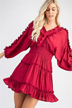 Load image into Gallery viewer, Ruffle Sleeve Dress
