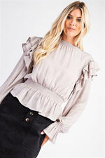 Ruffled Peplum Blouse