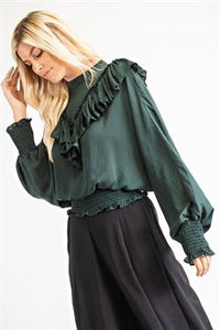 Ruffled Smocked Blouse