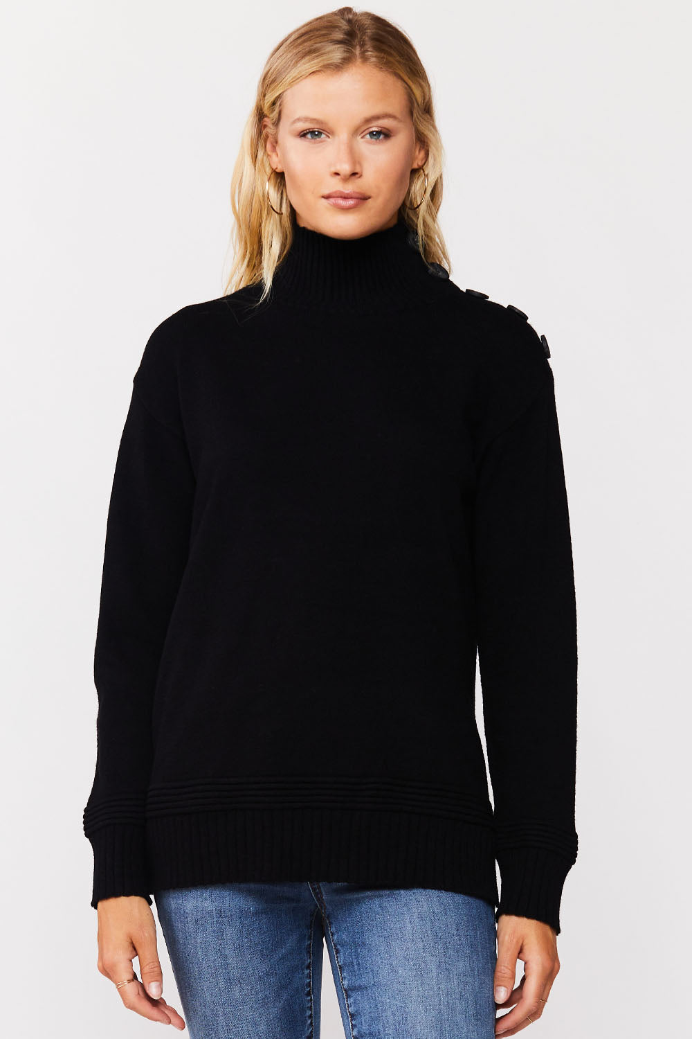 Button Sleeve Sweater
