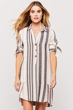 Load image into Gallery viewer, Pink & Black Striped Dress