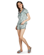 Palm Play Notch Collar PJ Set