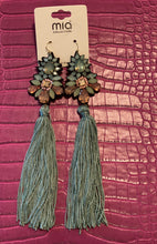 Load image into Gallery viewer, Long Tassel Jeweled Earrings