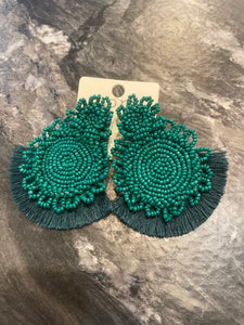 Doubled Scalloped Disc Earrings