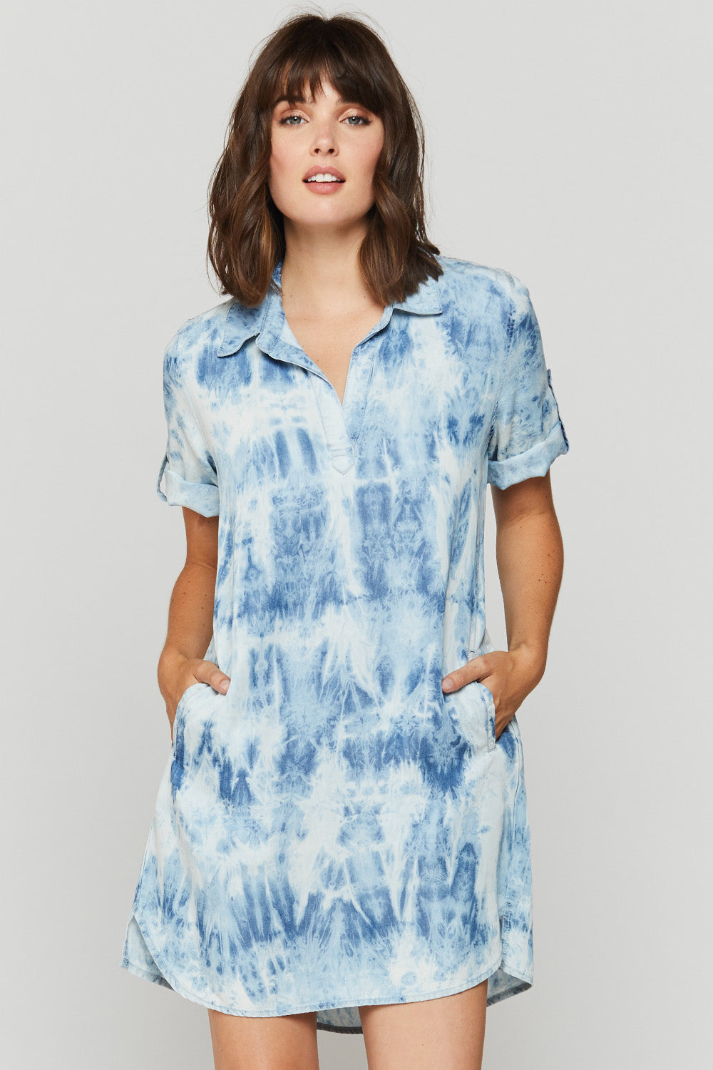 Tie Dyed Dress with Pocket