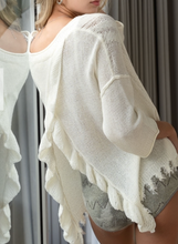 Load image into Gallery viewer, Open Back Ruffle Sweater