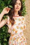 Flutter Sleeve Print Dress