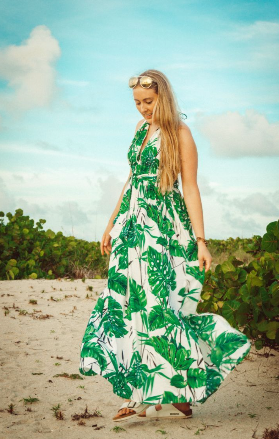 Hawaiian Halter Dress