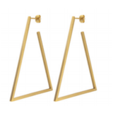 Geo Triangle Hoops