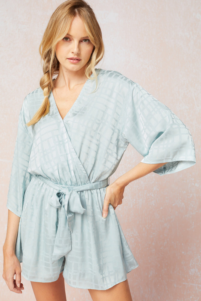 Textured Satin Romper