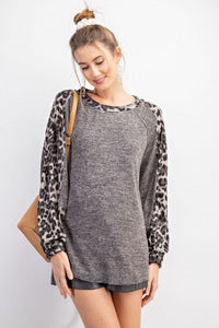 Animal Print Mix Top