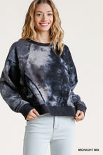 Load image into Gallery viewer, Ribbed Hem Tie Dye Sweatshirt