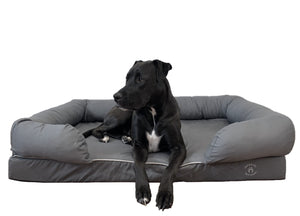 Extra Large Imperial Dog Bed - Grey (No Print)