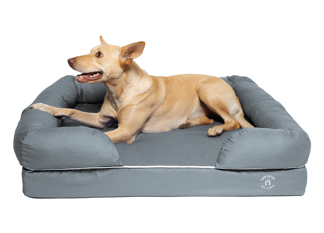 Large Imperial Dog Bed - Grey (No Print)