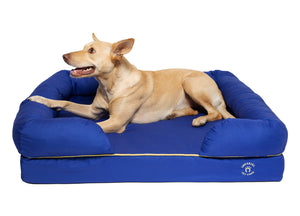 Large Imperial Dog Bed - Blue (No Print)