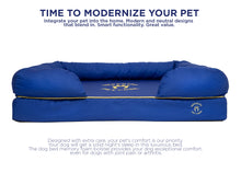 Load image into Gallery viewer, Small Imperial Dog Bed - Blue