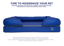 Load image into Gallery viewer, Large Imperial Dog Bed - Blue (No Print)