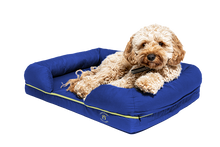 Load image into Gallery viewer, Small Imperial Dog Bed - Blue (No Print)