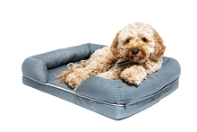 Load image into Gallery viewer, Small Imperial Dog Bed - Grey (No Print)