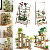 Multi-Tier Wooden Plant Flower Stand Plant