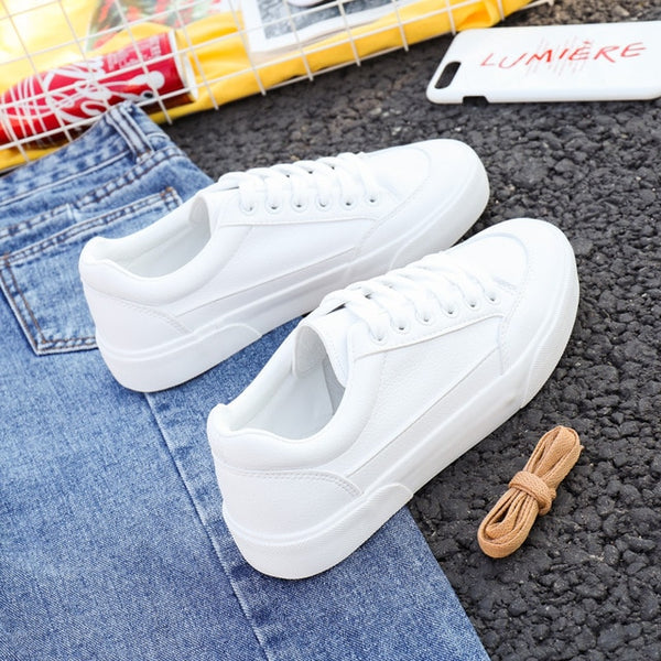 Women Sneakers Leather Shoes Spring