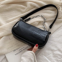 Fashion Crocodile Pattern Baguette bags