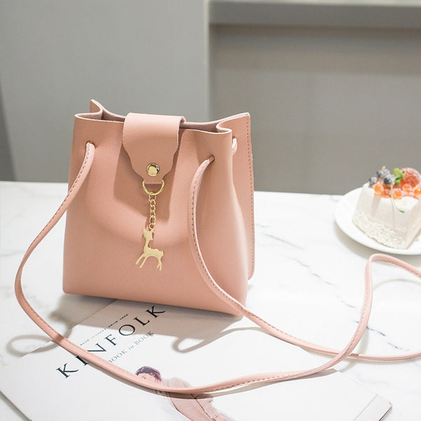 Vintage Small Women Bucket Bag For