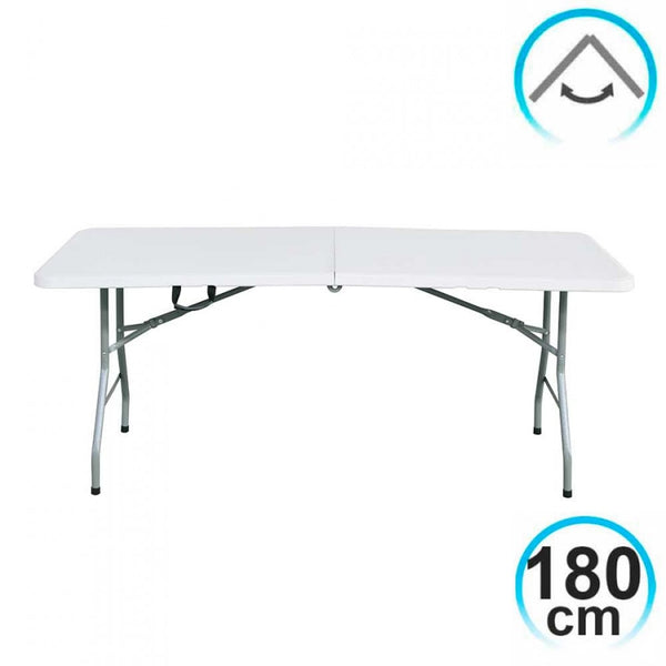 Folding Table 180cm Rectangular white Catering GH91