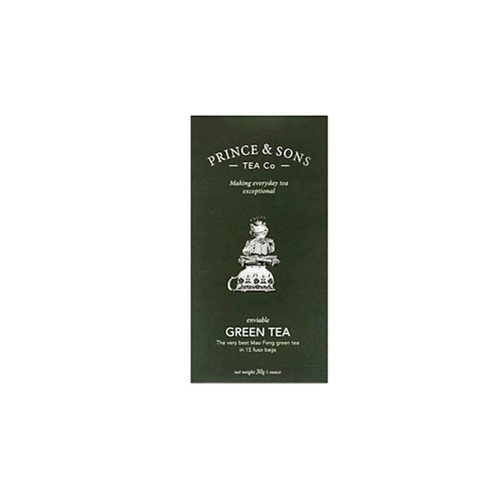 Green Tea, 15 bags, Prince & Sons Tea Company