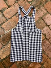 Load image into Gallery viewer, Children's Navy Checkered Apron