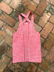 Children's Red Checkered Apron