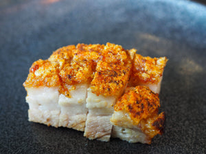 Golden Crackling Goodness : Experience Umami with our Roasted Pork.