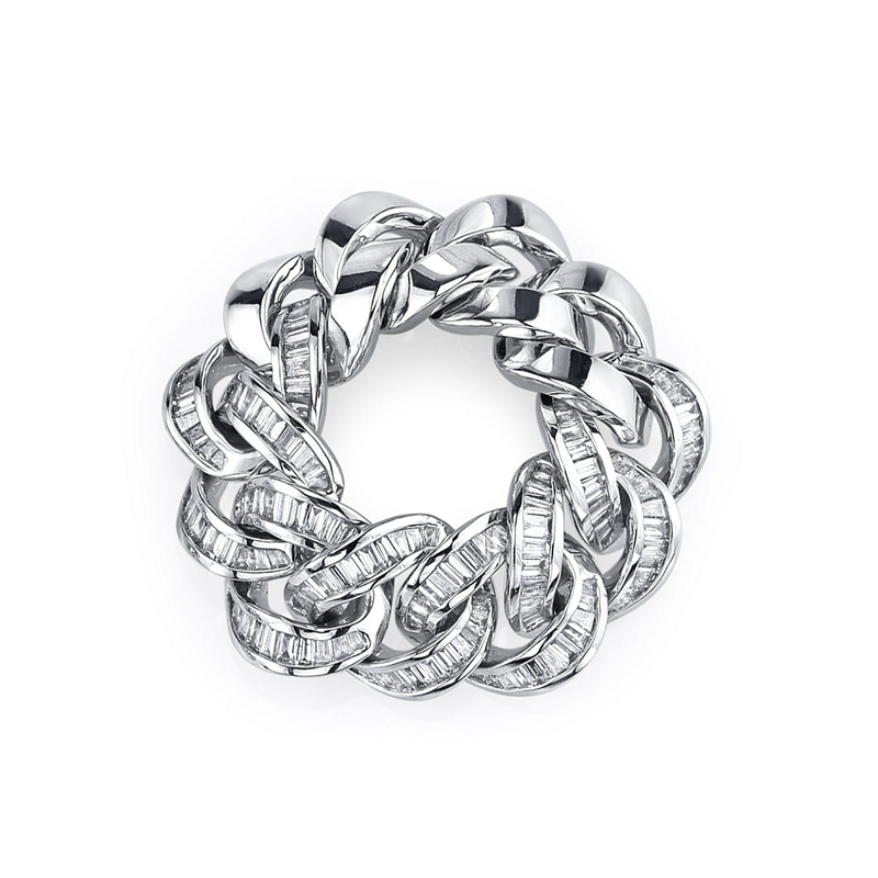 Shay Baguette Diamond Jumbo Link Ring