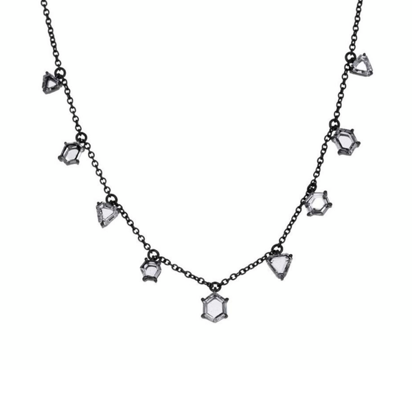 Eva Fehren 9 Diamond Prism Necklace