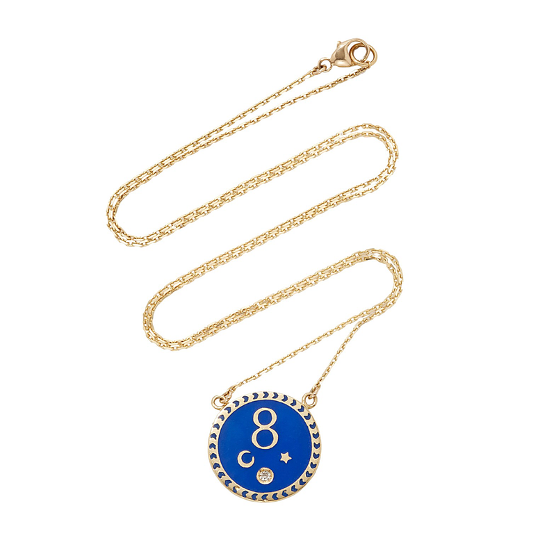 Foundrae Karma Petite Champleve Necklace