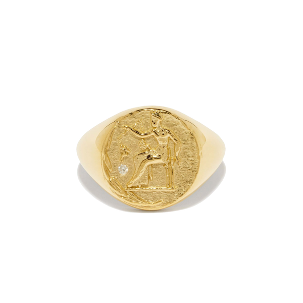 Azlee Aphrodite Signet Coin Ring