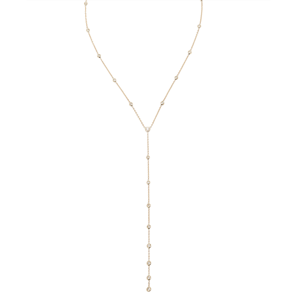 Jacquie Aiche 19 Graduated Diamond Y Necklace