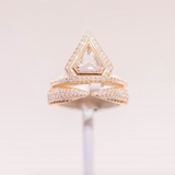 Eva Fehren Pale Champagne Diamonds Kissing Claw Ring