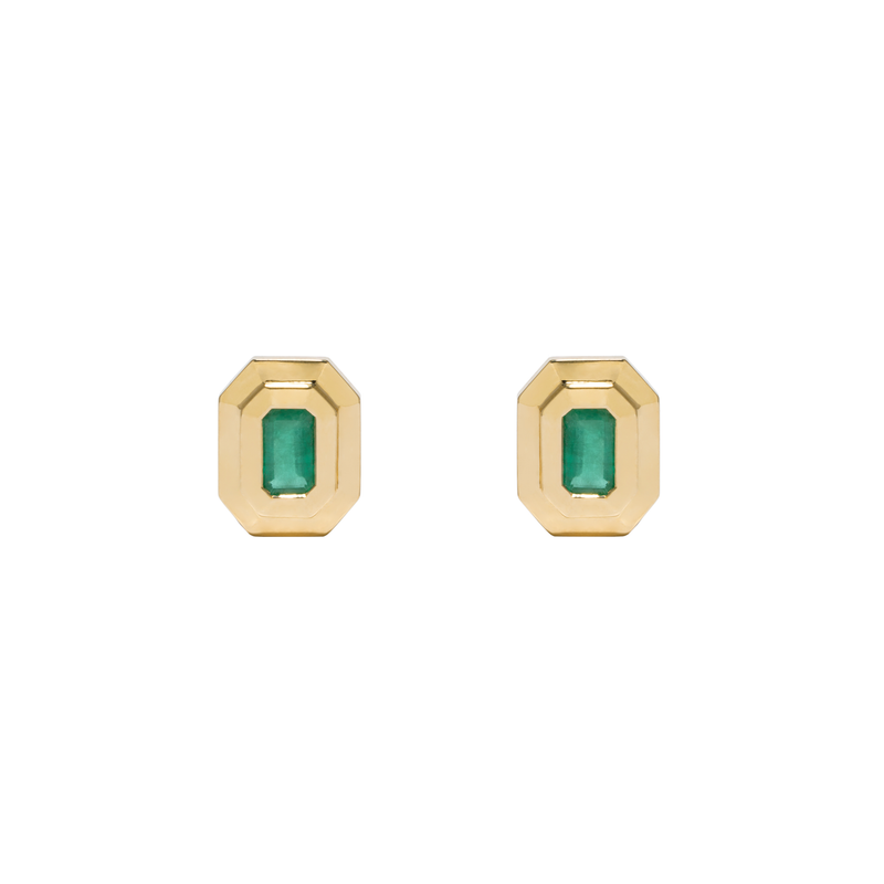 Azlee Emerald Staircase Studs