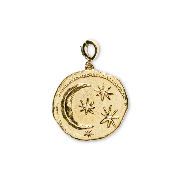 Azlee Large Cosmic Diamond Coin Charm