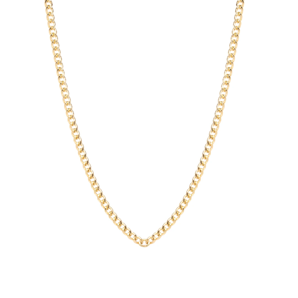Zoe Chicco Small Curb Chain Necklace