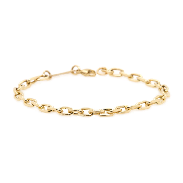 Zoe Chicco Large Square Oval Link Chain Bracelet