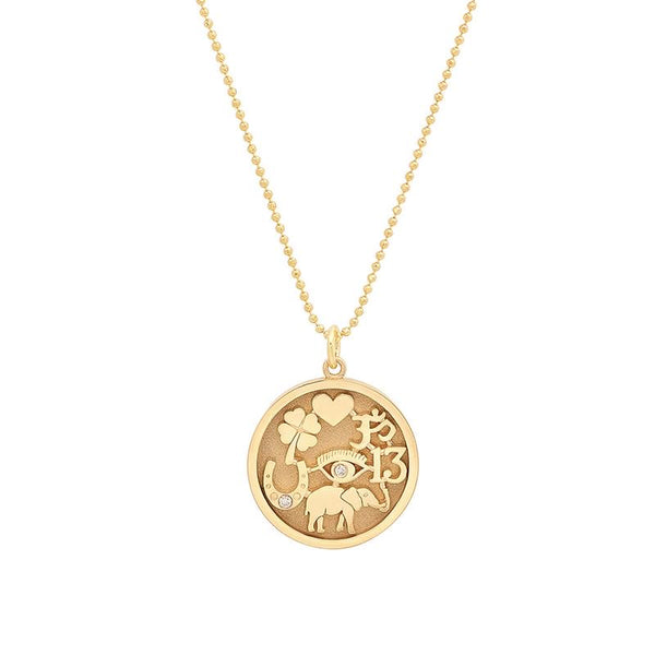 Jennifer Meyer Diamond Good Luck Necklace