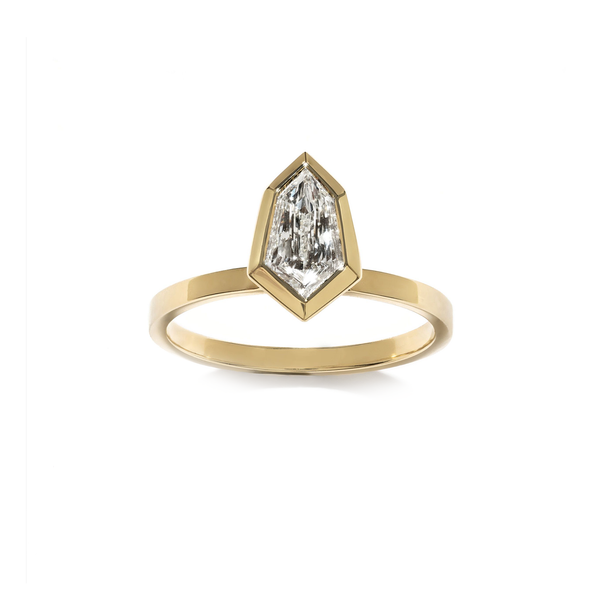 Azlee Double Tipped Shield Diamond Ring