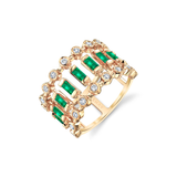 Shay Dot Dash Emerald & Diamond Ring