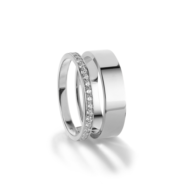 Repossi Berbère Module 1 Diamond Row Double Band Ring