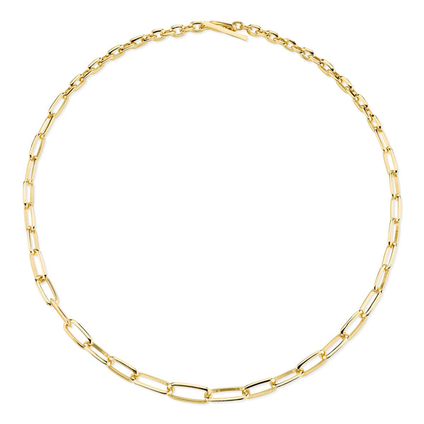 Lizzie Mandler Graduated Knife Edge Oval Link Chain