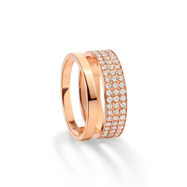 Repossi Berbère Module 3 Diamond Row Ring