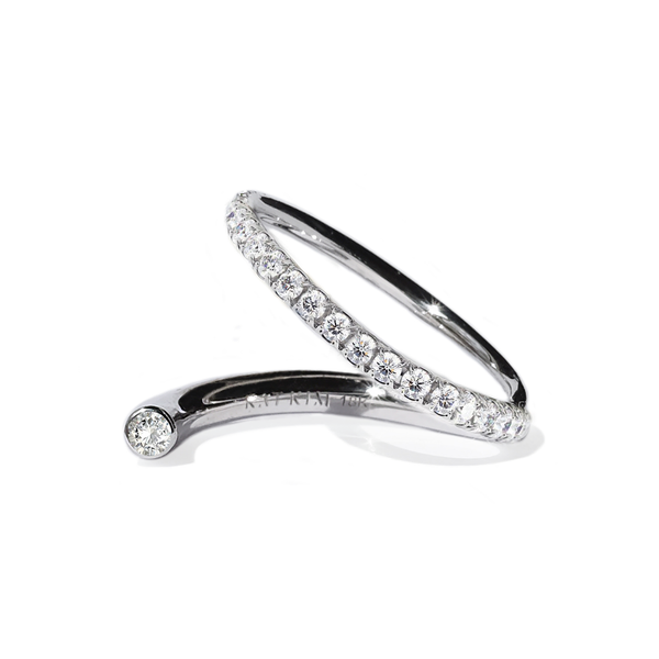 Kat Kim Crescendo Flare Diamond Ring